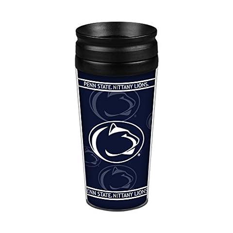 NCAA Penn State Nittany Lions Full Wrap Travel Tumbler, 14-Ounce, Blue