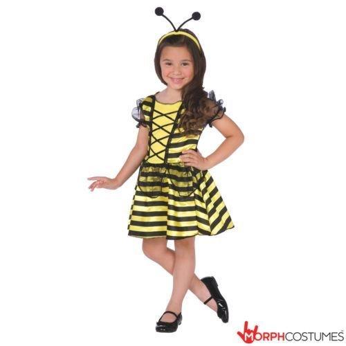 Honey Bee Fairy Mädchen Kostüm klein Medium große (Große Schwierigkeiten Kostüme)