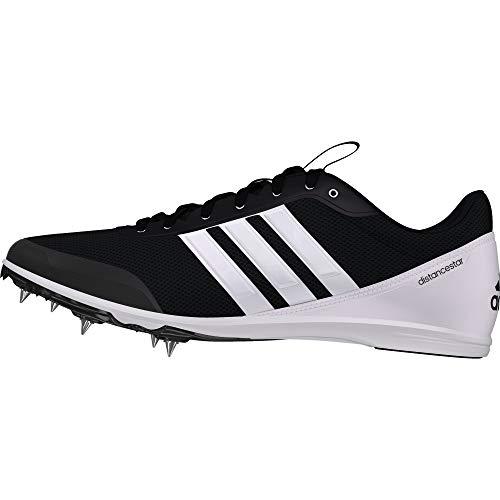 adidas Distancestar, Scarpe da Atletica Leggera Uomo, Nero (Negbás/Ftwbla 000), 42 2/3 EU