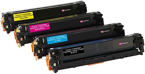 4er Set INK INSPIRATION® Premium Toner für HP Laserjet CM1312 CM1312nf CM1312nfi CP1215 CP1217 CP1514n CP1515n CP1518ni | kompatibel zu HP 125A CB540A 2.200 Seiten CB541A CB542A CB543A 1.400 Seiten (Hp Cp1215 Drucker)