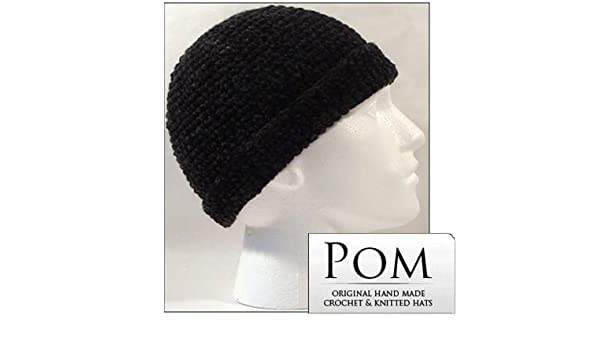 Crochet Docker Hat  Charcoal  Amazon.co.uk  Clothing 6728daf25e8