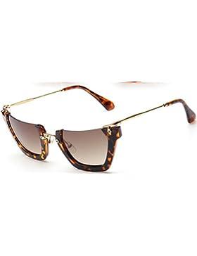 Gafas de sol Hombre Mujer Personalidad Diseño de ojo de gato Medio marco Polarizado Protección UV 400 Viaje Aire...