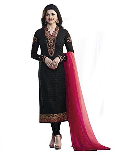 Vishal Fashion Women's Semi-Stitched Georgette Anarkali Salwar Suit