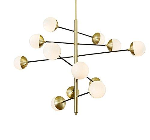 Kreative Kronleuchter, 6/10/12 Köpfe Deckenleuchte für Wohnzimmer Schlafzimmer Esszimmer (größe : 120*84cm(12 heads)) (Mount Flush Leuchtstofflampen)