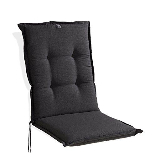 Sesselauflage Sitzpolster Gartenstuhlauflage für Mittellehner | 48x110 cm | Anthrazit