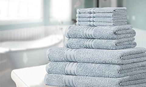 Knightsbridge 9-teiliges Handtuch-Set aus 500gsm ägyptischer Baumwolle