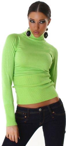 JELA London - Pull -  - Uni - Manches longues Femme Vert - Green - tropicalgrün