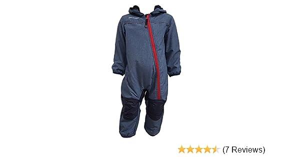Outburst - 3714254 Baby Kinder Softshell-Overall Schneeanzug gef/üttert wasserdicht 10.000 mm Wassers/äule atmungsaktiv Winddicht blau Mel