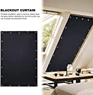 Bee-UAE Blackout Blind Curtains with Suction Cups Shading Reflecting Heat Window Insulation Shade Portable Blo
