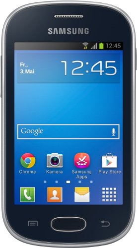Samsung Galaxy Fame Lite Smartphone (8,9 cm (3,5 Zoll) TFT-Display, 850 MHz Single-Core, 512MB RAM, 3.2 Megapixel Kamera, 4GB interne Speicher, USB 2.0, Android 4.1) midnight-black - Handy Samsung Fame