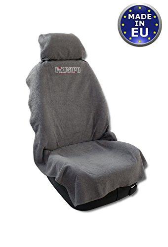 Unique housses de sièges de voiture fixcape -rapide et facile / couverture de siège voiture / protection de siège de voiture / protection pour siège avant / siège avant protection / siège avant couverture (gris)