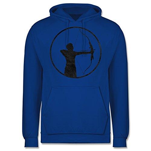 Sonstige Sportarten - Bogenschütze - Männer Premium Kapuzenpullover / Hoodie Royalblau