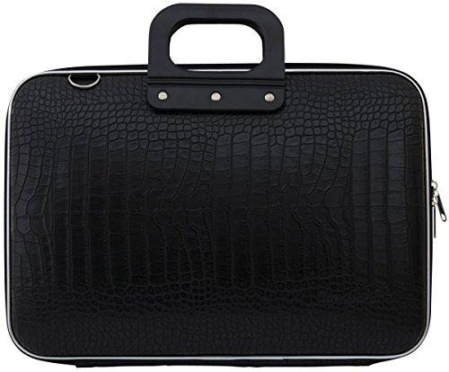 bombata-15-crocodile-print-computer-case-black