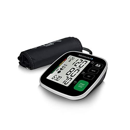Medisana BU 546 Connect Tensiómetro, pantalla de arritmia, Bluetooth, escala de colores de semáforo de la OMS, para una medición precisa de la presión arterial