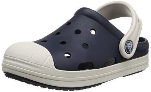 Crocs Bump it Unisex-Kinder Clogs,Marine/Oyster - Blau 29-30 EU ( 12 Child UK )