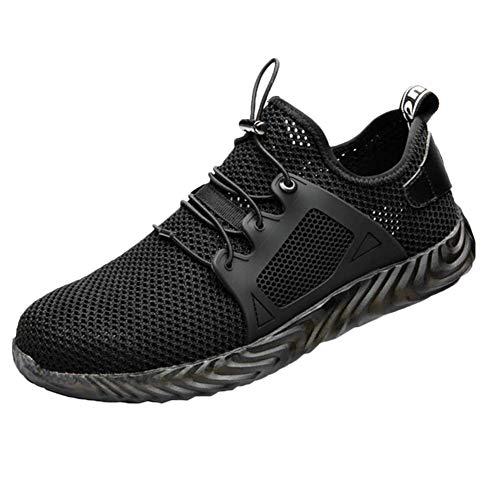 MonLook Sicherheitsschuhe, Sicherheit Turnschuhe für Herren Damen, Herren Unzerstörbar Schuhe Ryder Stahl Zeh Stiefel Sicherheit Armee Arbeits Sneaker - 45 (Stiefel Arbeit Schuhe)