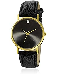 Watch Me Black Color Black Leather Strap Watch For Boys WMAL-262