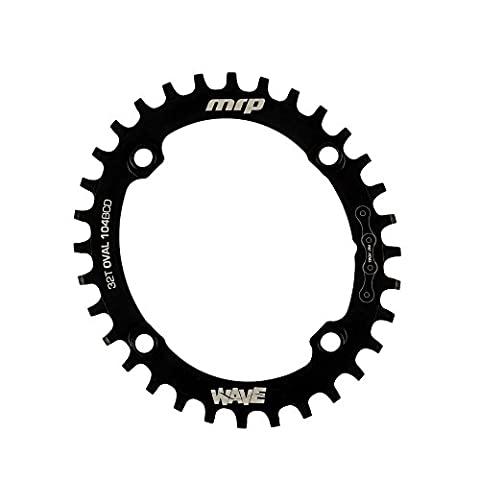 MRP Wave chainring 104/32T black Oval