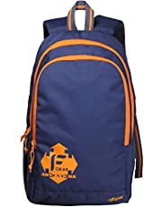 F Gear Castle NBO 24 Ltrs Orange Polyester Casual laptop Backpack (2181)