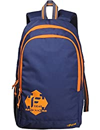 F Gear Castle Polyester 27 Ltrs Navy Blue Orange School Bag
