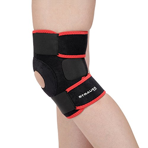 Strauss-Adjustable-Knee-Support-Patella-Free-Size-Black