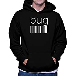 Sudadera con capucha Pug barcode