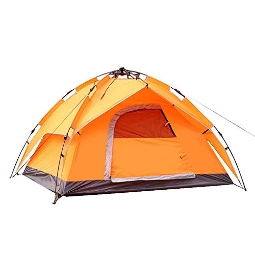 2-3 Personen Camping Zelt Double Layer Waterproof 4 Season 3-Personen Backpacking Zelt, Zelte for Camping Kuppelzelt mit Screen Room Camping Zelt mit Screened-In Veranda. ( Color : Orange ) (3 Zelt Von Wachsen 3)