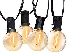 Catena Luminosa Esterno, Bomcosy 7.6m Luci da Esterno LED Catene Luminose per Esterni con 12+1 G40 Filo Lampadine Luminarie Lucine da Esterno Decorative per Giardino Natale Terrazza Matrimonio Partito