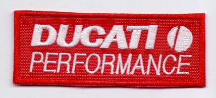 "Applikation Aufbügler Patches Stick Emblem Aufnäher Abzeichen ""DUCATI PERFORMANCE"" Logos F1, Moto GP & Sponsoren, Logos F1, Moto GP & Sponsors"
