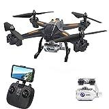 AORED Drone télécommandé avec HD Grand Angle 1080P WiFi FPV Caméra RC Hélicoptère Haute Tenue sans Tête Mode Quadricoptère Anniversaire de Jouet for Enfants Et Adultes (Taille : 720 P)