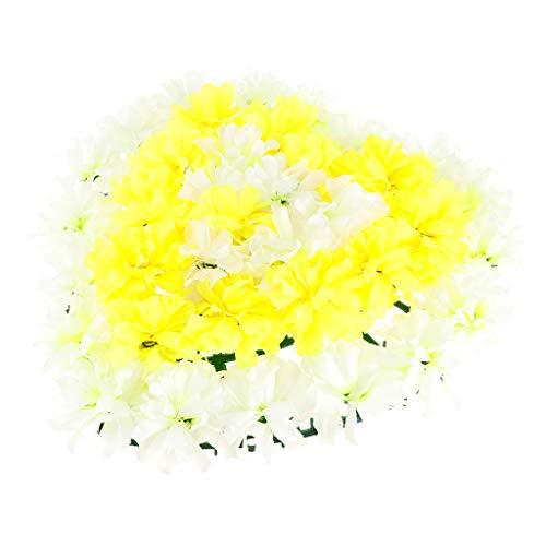 FLAMEER Seiden Chrysantheme Blumen Kranz Dekokranz Grabblumen ALS Grabschmuck und Grabdekoration - 1 (Grab Blumen Kranz)