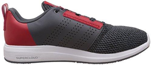 adidas Madoru 2 M, Scarpe da Corsa Uomo Grigio/rosso (Onix/Onix/Rojint)
