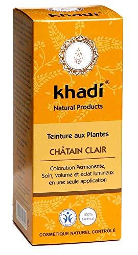 Khadi - Coloration végétale Châtain clair 100G Bio - Livraison Gratuite Pour Les Commandes En France - Prix Par Unité