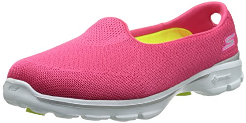 Skechers Damen Go Walk 3 Insight Sneakers Rosa