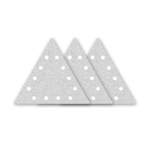 Preisvergleich Produktbild 25 MENZER Klett-Schleifblätter für FLEX WST 700 VV Vario Plus - gelocht, dreieckig - 290x250 mm - Korn 120