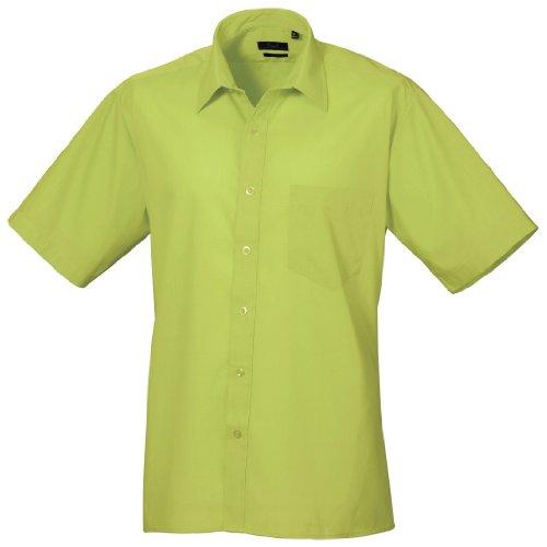 Preisvergleich Produktbild Premier Popelin Herren Hemd, kurzärmlig (Kragenweite 43 cm) (Limette)