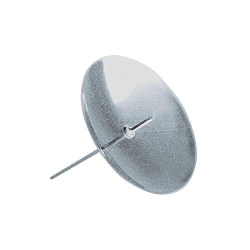 Rayher 2515122 Messing-Kerzenhalter, zum Stecken, SB-Btl. 4 Stück, sil