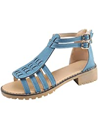 9a5ac4f88feb Boomboom Women Sandals Women s Platform Wedge Sandals Bohemian Double  Buckle Sandals High Heels Beige