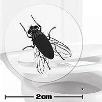 10 x pegatinas con diana de mosca (2cm) Ayuda para que los niños aprender a ir al baño. Divertido entrenamiento para usar el inodoro en el cuarto de baño.