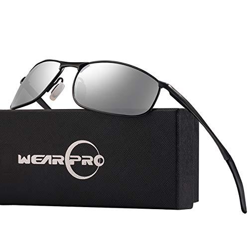 wearpro Sonnenbrille Herren Sportbrille Driving Polarisierte Männer Al-Mg Metall Rahme Ultra Leicht WP1015