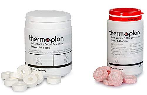 Thermoplan   Black & White 4 C Tab Set   Reinigungsset für drei Monate   3 Dosen Thermo Milk Tabs + 3 Dosen Thermo Kaffee Tablets White 4