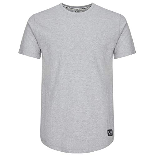 urban ace | Basic T-Shirt | Herren | Regular fit | runder Saum | schwarz, weiß, grau, Olive (Grau, M)