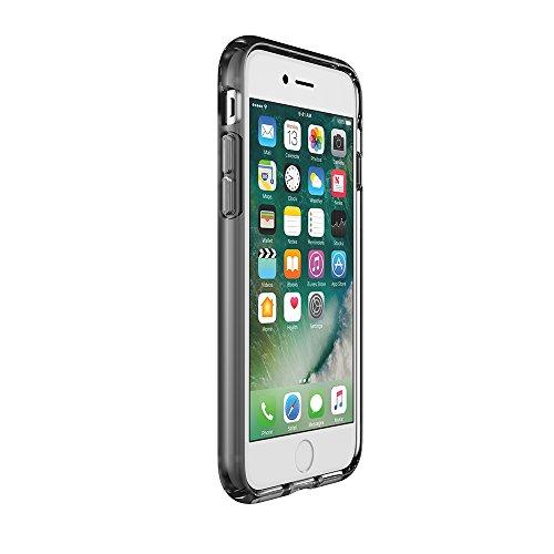 Speck Presidio Clear + Print Coque Transparente Imprimée pour iPhone 7 Plus - Argent/Transparent à Pois Transparent/Noir Onyx Mat