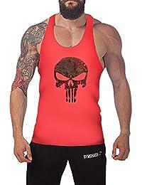West See Herr Mann Tops Tank Tankshirt Vintage Skull Totenkopf T-Shirt Weste Muscleshirt Print