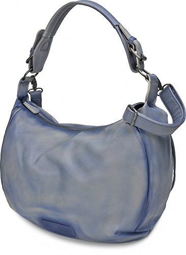 FRITZI AUS PREUSSEN, Damen Handtaschen, Henkeltasche, Hobo-Bag, 42 x 28 x 14 cm (B x H x T), Farbe:Mauve Blau