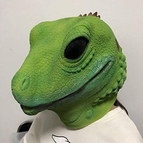 Kinder Eidechse Kostüm - WSJDE Eidechsen-Tiermasken-Kopfhörer-Porto-Karikatur, Karikatur-Kindernette Latex-Kopfbedeckungs-Halloween-Leistungs-Stützen