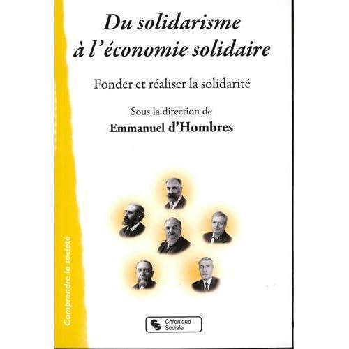 Du solidarisme à l'économie solidaire
