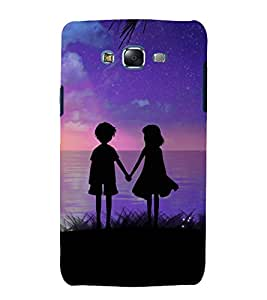 printtech Cute Kids Love Couple Back Case Cover for Samsung Galaxy J1 (2016) / Versions: J120F (Global); Galaxy Express 3 J120A (AT&T); J120H, J120M, J120M, J120T Also known as Samsung Galaxy J1 (2016) Duos with dual-SIM card slots