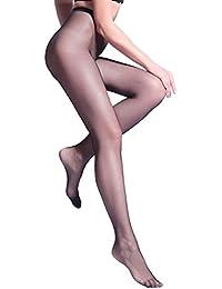 Elizecq – Collant résille maille – Sexy élastique résistant – Femme – Taille unique – noir