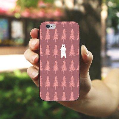 Apple iPhone X Silikon Hülle Case Schutzhülle Der Bär im Wald Eisbär Bär Silikon Case schwarz / weiß